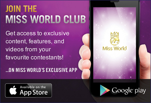 GET MEGAN INTO THE FINALS. Every download gives the user two free votes. Additional votes can be purchased. Image from www.missworld.com