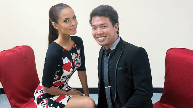 FIRST PINAY MISS WORLD? Megan Young with Sash Factor's Raymond Golez. Photo courtesy of Raymond Golez