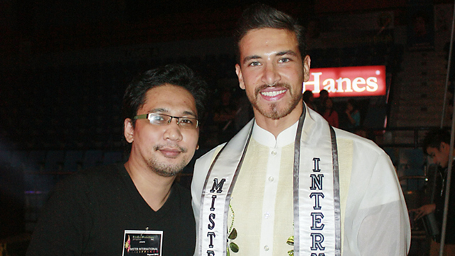 MISTER INTERNATIONAL. Brix Vera with Mister International 2012 Ali Hammoud. Photo by Dennis Natividad