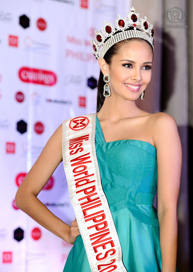 PICTURE OF CONFIDENCE. Although sick and exhausted, Miss World Philippines 2013 Megan Young flashes a warm smile to the media at her official sendoff party. All photos by Bruce Casanova/OPMB