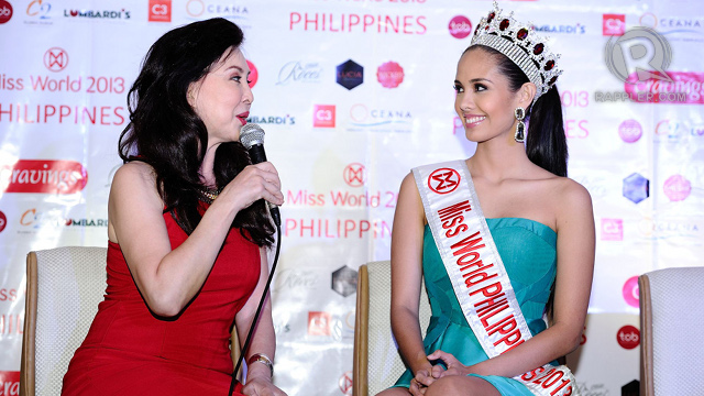 SECOND MOTHER. Megan calls Miss World Philippines pageant director Cory Quirino [left] her 'second mom'