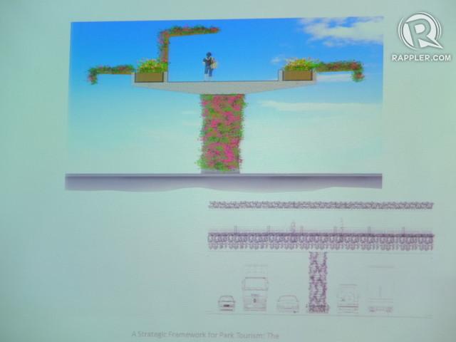CONNECTING LANDMARKS. This proposed raised walkway bridges Luneta Park and Intramuros