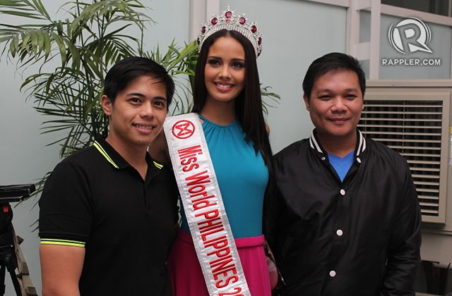 FINAL REMINDERS. Megan Young with two of her Aces and Queens mentors Mark Besana [left] and Jonas Gaffud