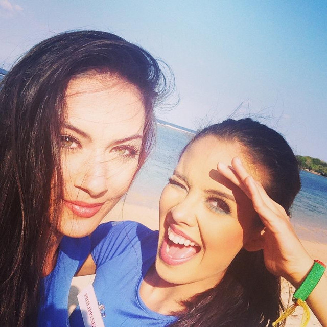 ENJOYING THE COMPANY. A pic posted by Miss Kosovo Antigona Sejdiu with Miss Philippines Megan Young in the former's official Facebook page. While organizers finalize the venue of the finals, the candidates are busy with daily activities.