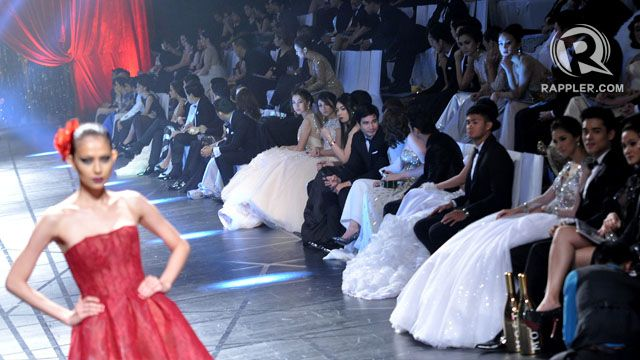 COUTURE NIGHT. It's the celebrities' turn to watch