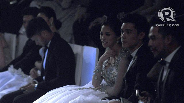 FASHIONISTA. Kim Chiu appears to enjoy the creations on the runway