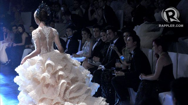 SMARTPHONES OUT. The stars appear mesmerized by Michael Cinco's finale creation