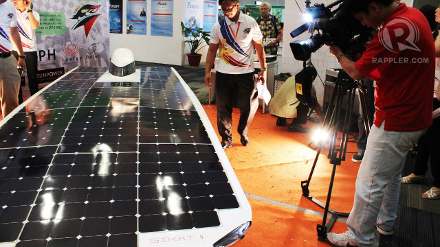 READY TO RIDE. Sikat II-A is the latest in a line of solar cars made in the Philippines. Photo courtesy of Donna Manio
