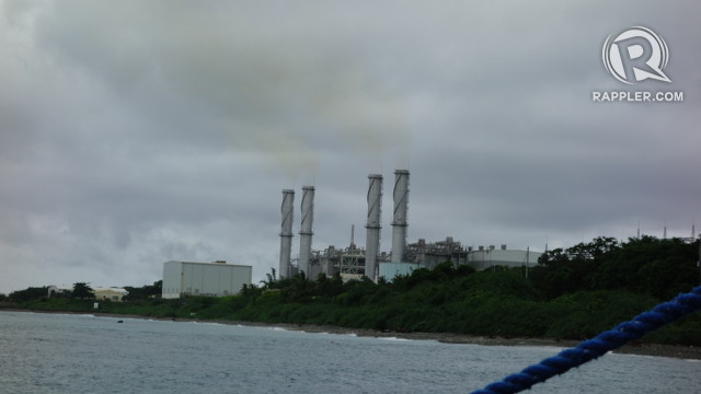 FUMES. An industrial plant near the Verde Island Passage spews colored fumes. All photos by Andrew Robles