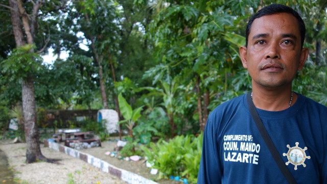 TAKING THE LEAD. San Agapito Barangay Captain Edmar Rieta hopes to implement a ban on plastic in his village