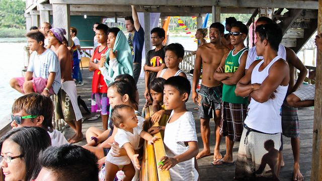 FIXATED. Siargao locals enjoying the show