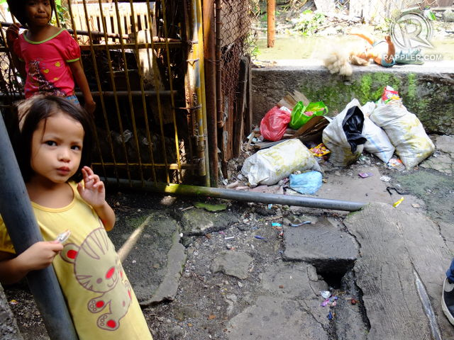 LIFE GOES ON. Residents of Barangay 826 have resorted to makeshift sewerage systems that don't stand the test of time