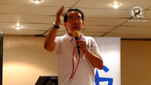 'THE SOLUTION HAS COME.' Pasang Masda President Robert 'Ka Obet' Martin says the coming of the COMET means his group will no longer need to hold rallies to protest oil price hikes. Photo by Pia Ranada/Rappler