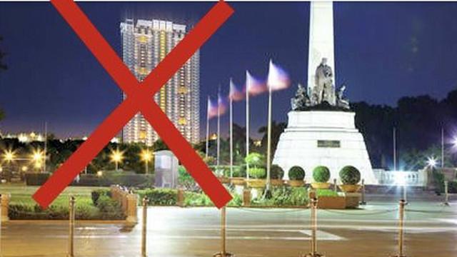 'TERROR DE MANILA.' Torre de Manila threatens to ruin the sightline of the Rizal Monument in Rizal Park, says heritage advocates