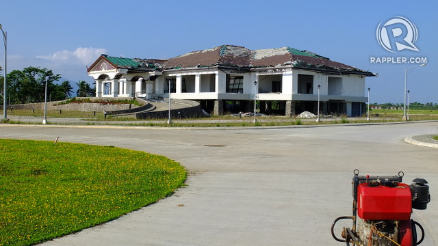 DAMAGED PROPERTY. The APECO administration building was damage by Typhoon Labuyo which made landfall in Casiguran in August 2013. All photos by Pia Ranada/Rappler