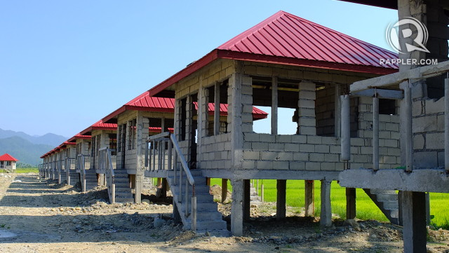 UNFINISHED HOUSING. The National Housing Authority built homes for Casiguran locals displaced by APECO development projects but the units remain unfinished