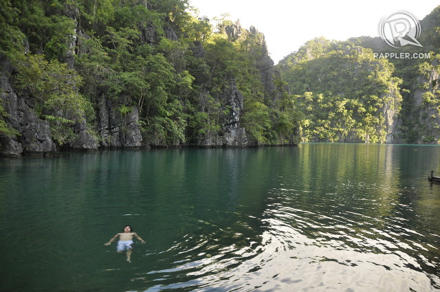 SAFE, SO FAR. Kayangan Lake, around an hour from Coron Bay, is still pristine