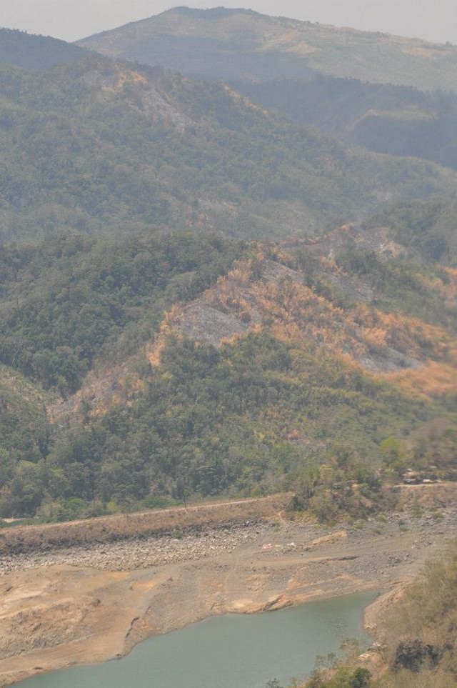 DEFORESTED. Burnt parts of the Ipo watershed are beside a river that leads to Angat Dam. Photo by Brother Martin Francisco