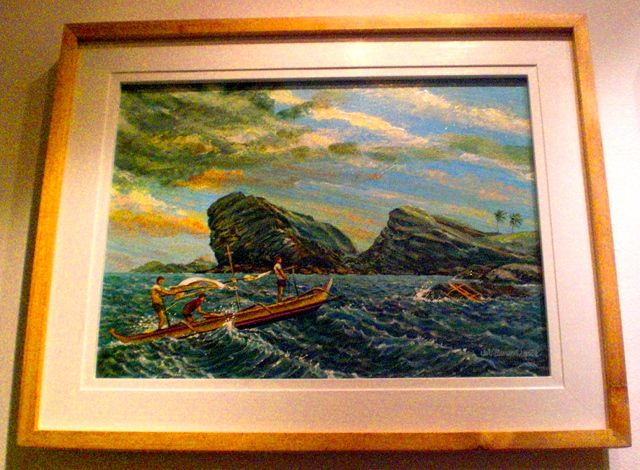 ALL PLACES BEAUTIFUL. The Sinirangan exhibit displays artworks of some tourist spots in Eastern Visayas, one of which is Biri Island in this painting by Val Villanueva