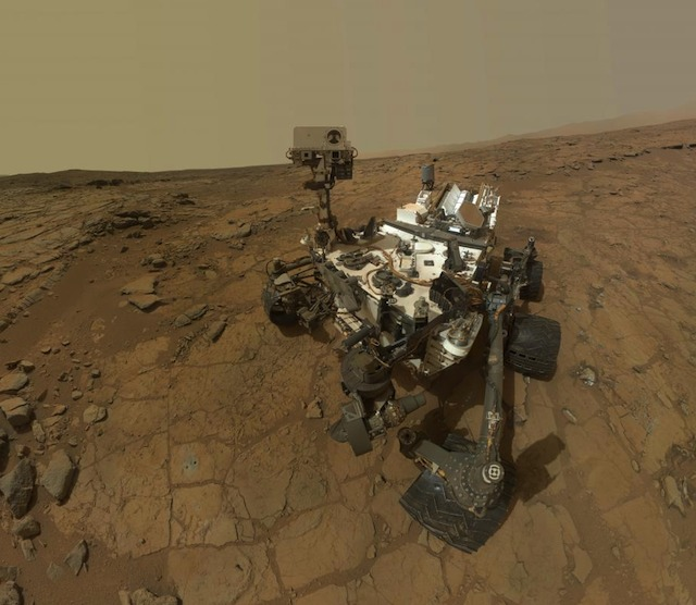 CURIOSITY AND METHANE. The Curiosity rover (pictured) found only trace amounts of methane gas in Mars' atmosphere. Photo courtesy NASA/JPL-Caltech/MSSS