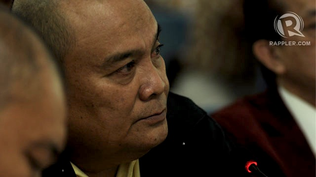 DEFENSE. Retired Lt. Col. Felipe Anotado testifies in court. Photo by Geloy Concepcion