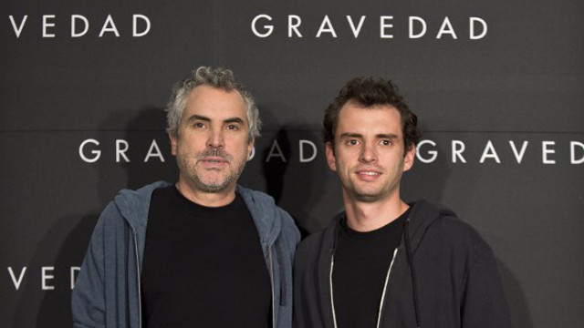 TOO EARLY TO SAY. 'Gravity' screenwriters Alfonso and his son Jonas Cuaron. Photo: Ronaldo Schemidt/AFP