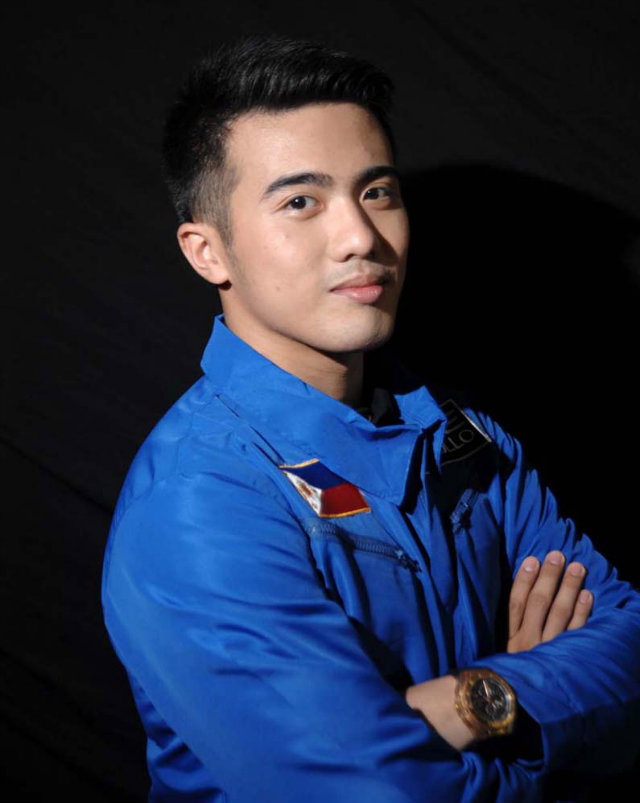 THE WINNER. 22-year-old Crossfit coach Chino Roque bested 28,000 applicants to be the first Filipino to go to space. Photo courtesy of Axe Philippines