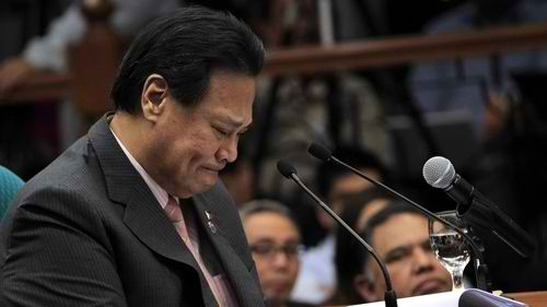 UNFINISHED BUSINESS: The Supreme Court will decide if sacked Chief Justice Renato Corona is entitled to a retirement pay. Rappler file photo
