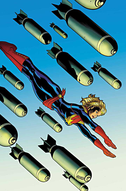 MS. MARVEL RETURNS. The cover created by Ed McGuinness. Image from Marvel Comics
