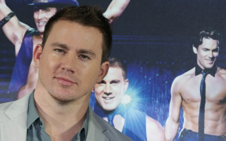 SEXIEST MAN ALIVE. US actor Channing Tatum poses during a photocall to promote his film u0022Magic Mikeu0022 on July 12, 2012 in Berlin. The movie starts in German cinemas on August 16, 2012. AFP PHOTO / JOERG CARSTENSEN