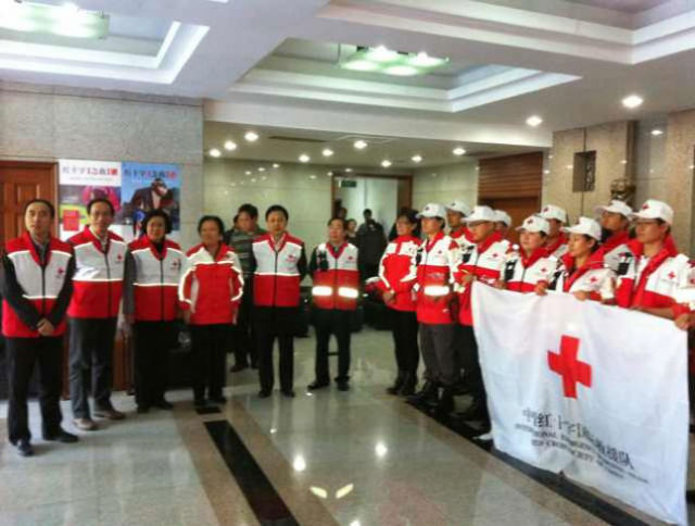 FRIENDLY GESTURE. China sends medical professionals to help in the areas hit by Typhoon Yolanda. Photo provided by the Chinese Embassy in Manila