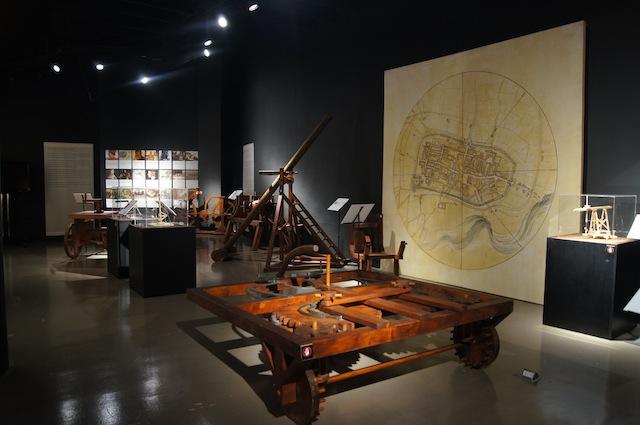 CIVIL WORKS. The Civil area of the Da Vinci: The Genius exhibit, showcasing the Renaissance master's work in urban planning and design. Photo courtesy Mind Museum