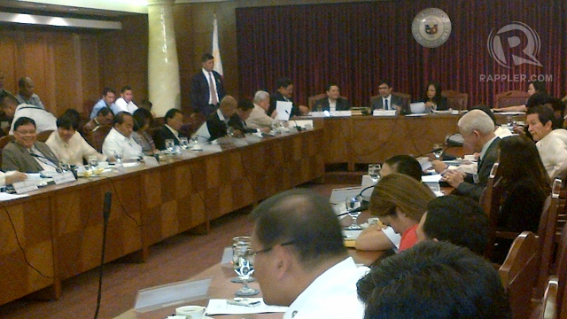 MAJORITY PRESENT. Most House justice committee members showed up for the vote on probable cause in Supreme Court Associate Justice Mariano del Castillo's impeachment.