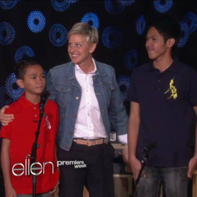 FOUND. With Ellen DeGeneres. Photo from the Facebook of Aldrich Lloyd Talonding and James Walter Bucong