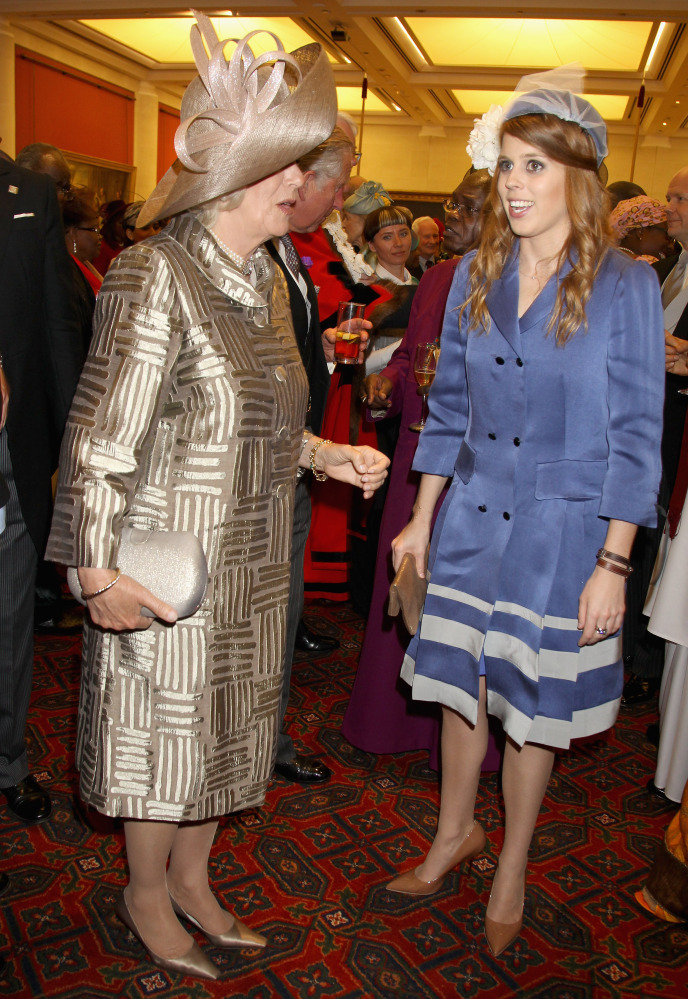 Camilla, Duchess of Cornwall, with Princess Beatrice