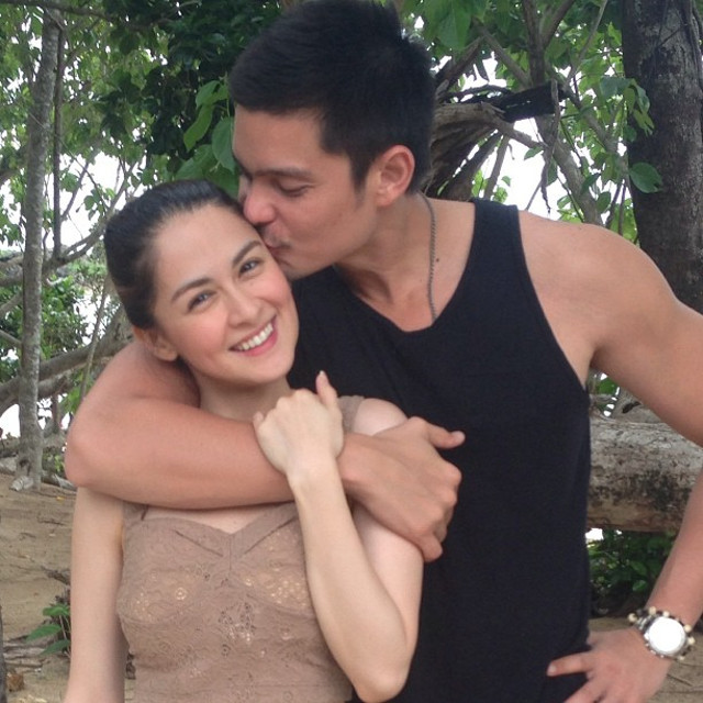 DINGDONG ON A ROLL. With Marian Rivera. Photo from his Facebook