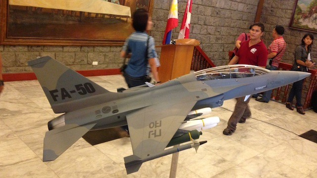 SIGNED: A model of the FA-50 of the Korean AeroSpace Industries Ltd