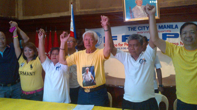THE KING'S FOLLOWERS. Supporters of the late actor Fernando Poe Jr. endorse Manila Mayor Alfredo Lim. Image from Lim's Facebook page
