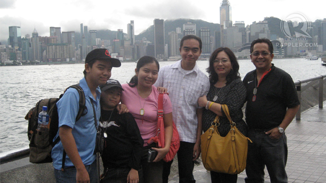 FROM SINGAPORE TO HONG KONG. The Francisco family in 2007. Photo from Bea Francisco