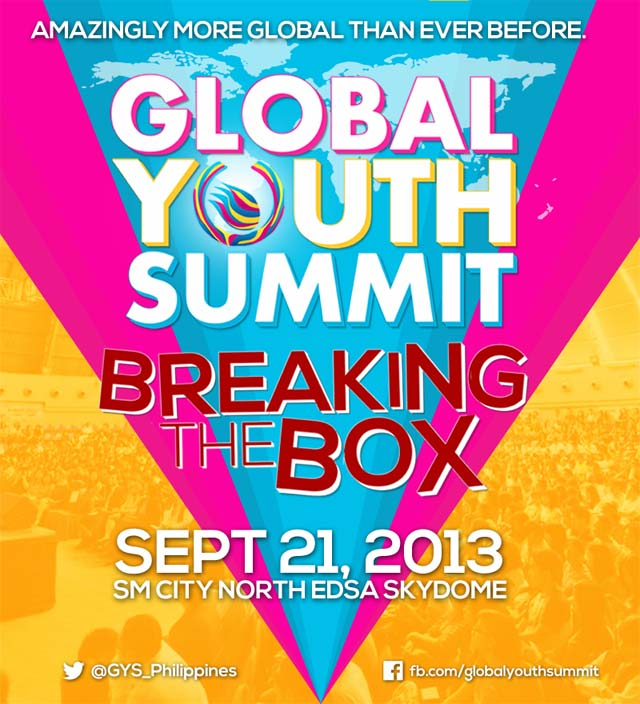 BREAKING THE BOX. The Global Youth Summit 2013