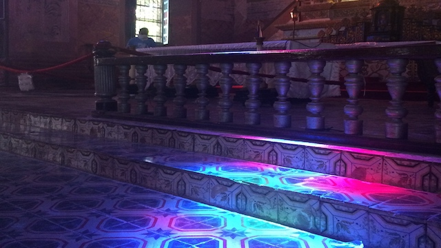 #NOFILTER. Despite the damage, the Baclayon church's indoors are still awe-inspiring.