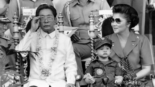 CONJUGAL RULE. The Marcoses at the twilight of power. Photo: Romeo Gacad/AFP