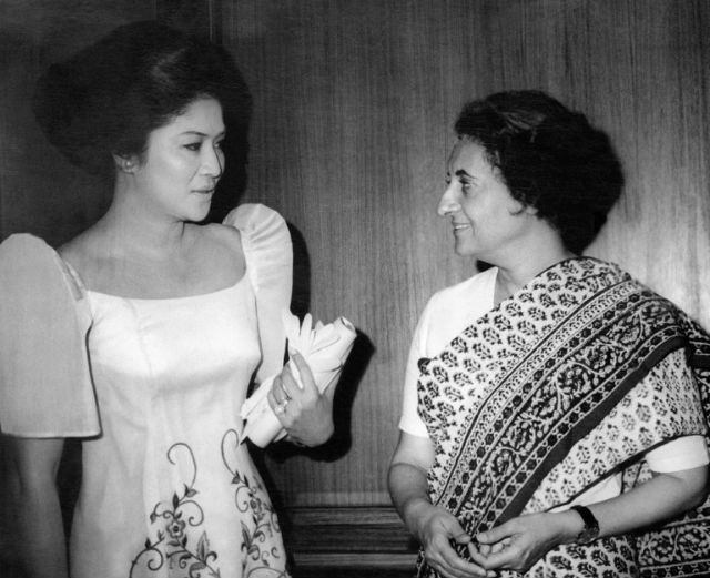 A MOMENT OF HISTORY. With Indian Prime Minister Indira Gandhi, 1971. Photo: AFP