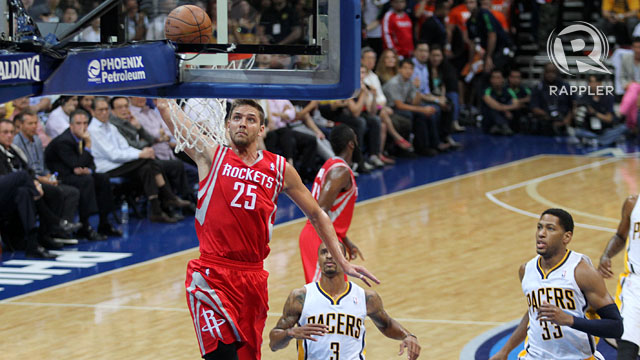 NBA PHILIPPINE INVASION. The Houston Rockets and the Indiana Pacers played a first-ever preseason NBA game in the Philippines last October. Photo by Rappler/Josh Albelda.