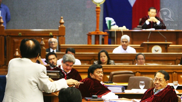 NO BULLDOZING. Lead Defense Counsel Serafin Cuevas says the defense u0022can't be bulldozedu0022 into presenting witnesses, especially Chief Justice Renato Corona. Photo by Emil Sarmiento
