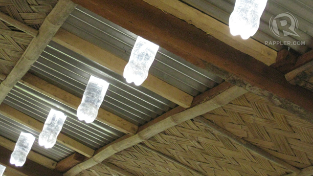 Solar lights at Maia, which they also have in Bahay Kalipay.
