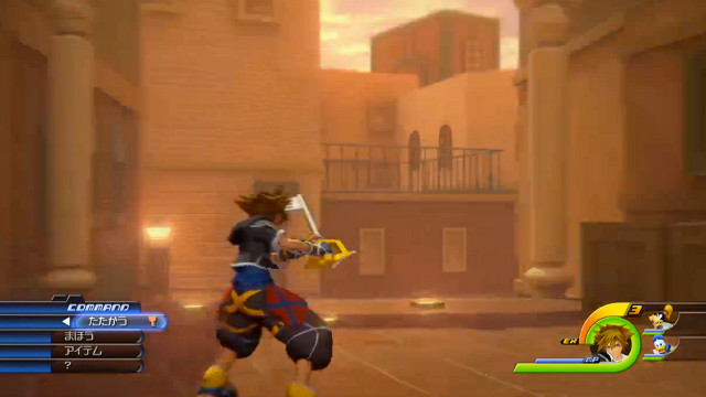 THE KEYBLADE RETURNS. Kingdom Hearts 3 video shown at Sony's press conference. Screen shot from E3 livestream