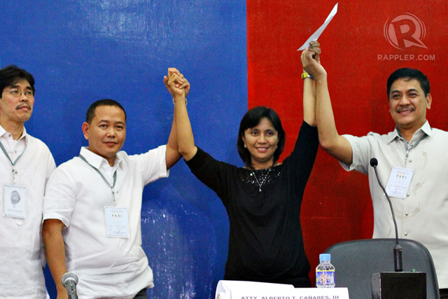 LENI WINS. She beat Villafuerte by a landslide. Photo by Allan Camata