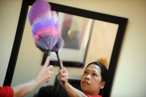 PROTECTION. Proponents of a House bill for domestic workers will be taken up before Congress takes another break. Photo by AFP