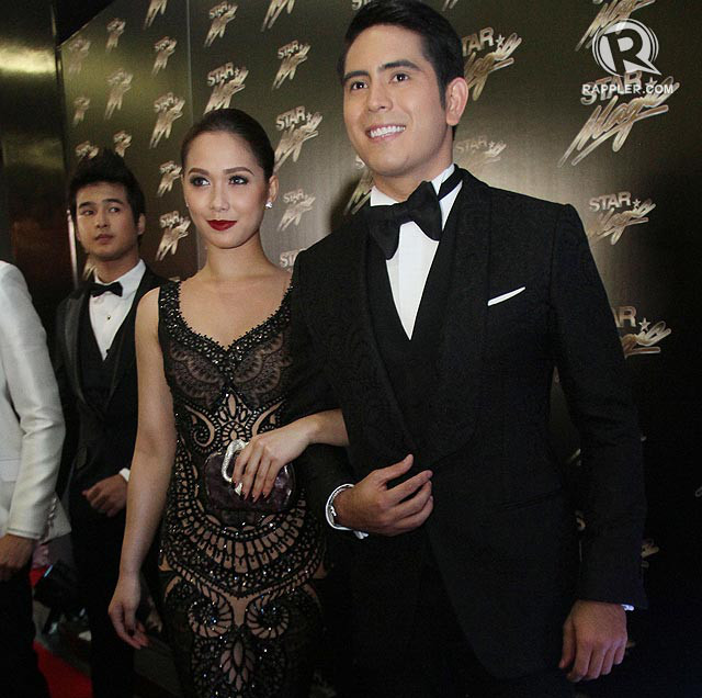 'WE FELL IN LOVE AND IT'S NORMAL.' Maja and Gerald at the 2013 Star Magic Ball. Photo: Inoue Jaena